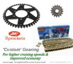 Custom 17/42 Gearing: JMP Sprockets and GOLD DID X-Ring Chain - BMW S1000 XR (15-19)